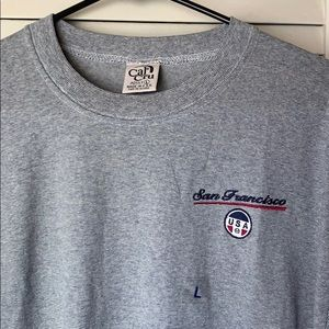 T shirt embroidered with San Francisco